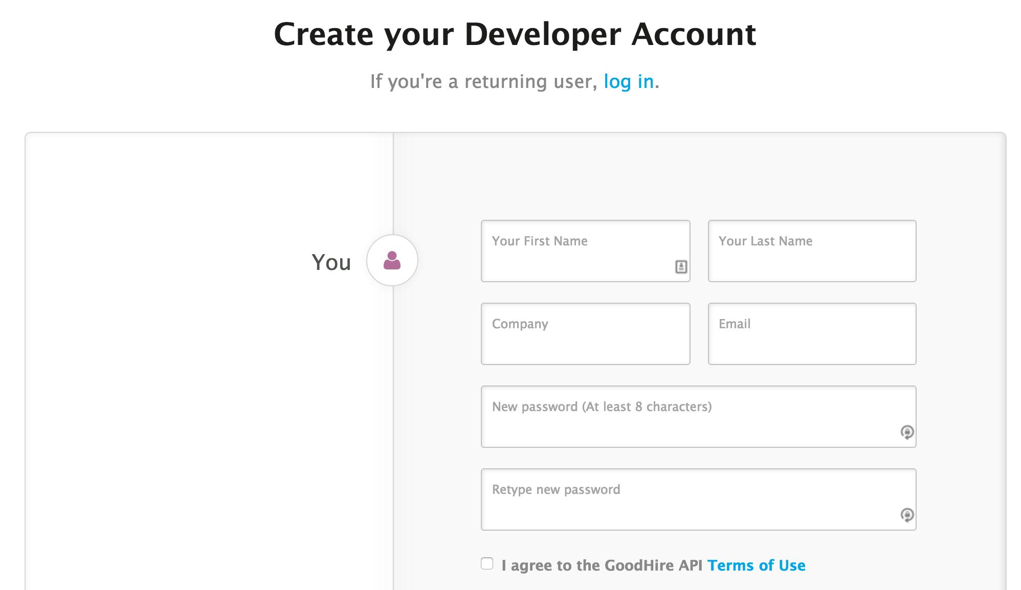Creating a GoodHire Developer Account